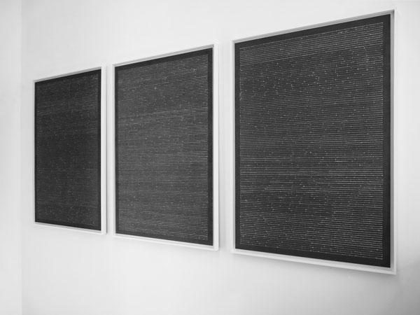 Réserves, 2009 / Aquarelles au vin sur papier / 94 X 124 cm
