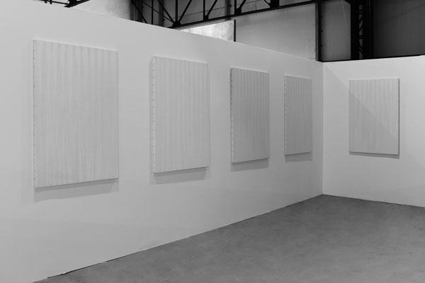 Jours de Pluie, 2009-2013 / Toiles et oxyde de cuivre / 130 x 89 cm chq.