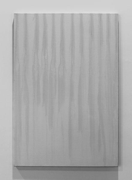 Jours de Pluie, 2009-2013 / Toile et oxyde de cuivre / 130 x 89 cm