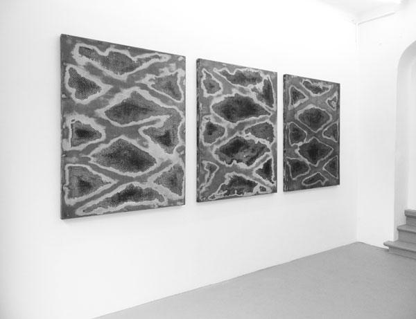 La Gueule ouverte (III), 2017 / Techniques mixtes sur bois : 145,5 x 114 x 5 cm chaque