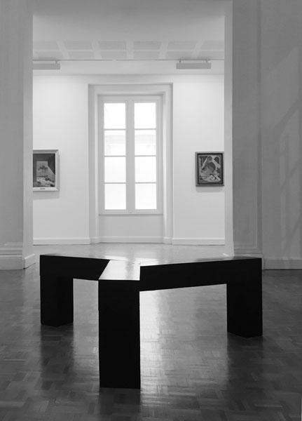 Sans titre (Fleury-Mérogis) II, 2012 / Douglas, encre, cirage