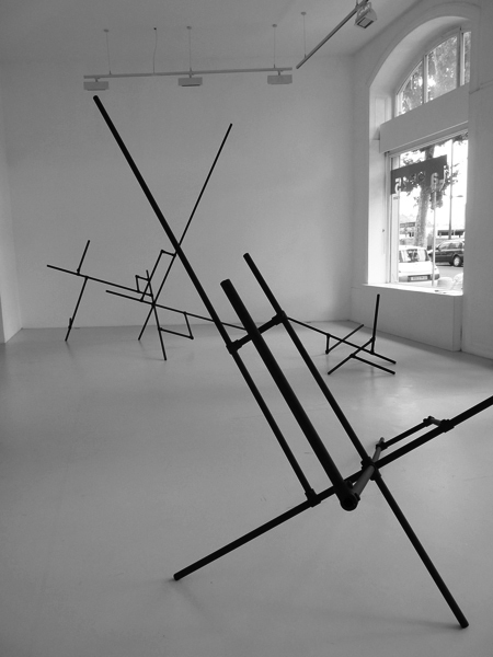 Urbicande #1, 2011 / Tubes et modules d'acier / Dimensions variables